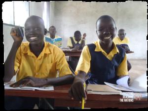 Students in new Terekeka classroom